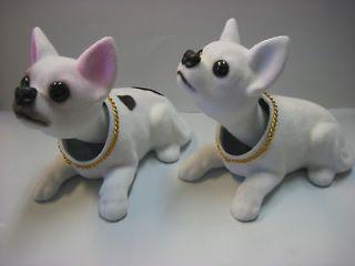 Lot of 2 pc Chihuahua Dogs / Bobbing / Bobble Head Doll