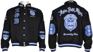 Zeta Phi Beta 3 Letter Sorority Ladies NASCAR Twill Jacket