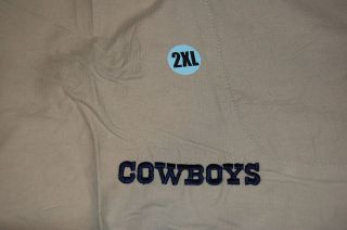 Dallas Cowboys Team Issued Reebok Tan Shorts 2X NFL NEW