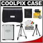 Nikon COOLPIX Camera Case + EN EL19 Battery Kit for S100 S3100 S3300