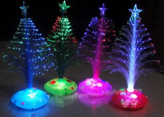Colorful Christmas Tree Fiber Optic Night Light Xmas Decor Party Bar