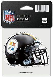 Pittsburgh Steelers NFL Wincraft 4x4 Die Cut Full Color Helmet Decal