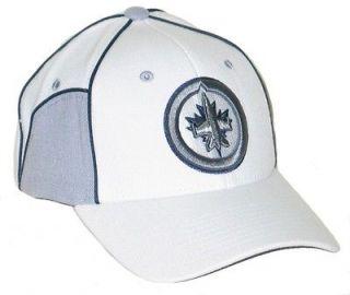 WINNIPEG JETS NHL HOCKEY WHITE CUT UP FLEX FIT FITTED HAT/CAP XL NEW