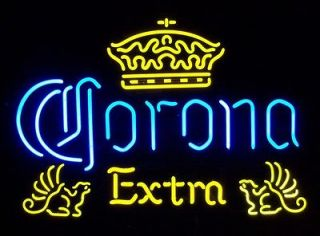 Authentic Corona Extra Crown & Griffins Neon Beer Bar Sign Light
