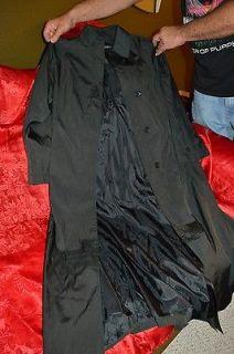 Gorgeous ANNA K Full Length Black Duster Trench Rain Coat Jacket