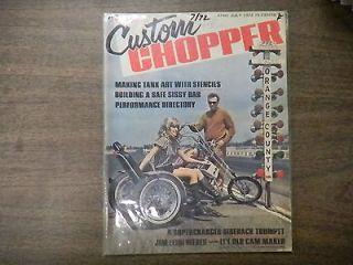 Custom Chopper Magazine Making Tank Art With Stencils July 1972 0104R