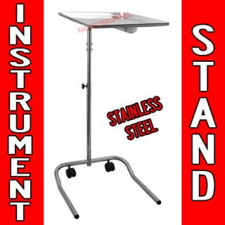 Tattoo Adjustable Instrument Stand Salon Body Piercing STEEL TRAY