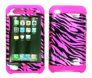 For Apple iPod Touch 4 Generation Case Pink Zebra Print Skin Hard