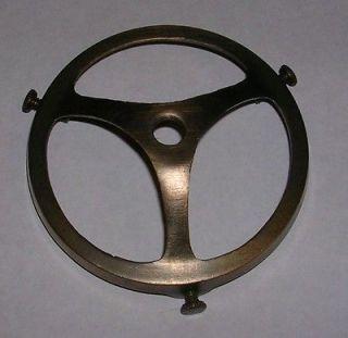 ANTIQUE FINISH 3 Cast Brass SPOKE DESIGN Glass Lamp SHADE HOLDER
