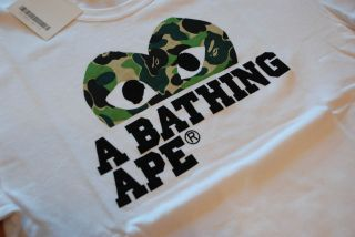 COMME des GARCONS PLAY SERIES x A BATHING APE ZI T012 MENS TEE S M L