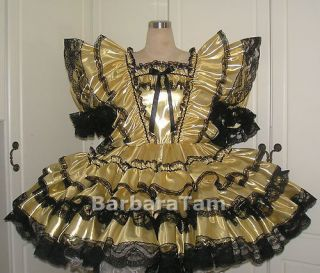 BBT METALLIC TISSUE ADULT SISSY SQUARE DANCE DRESS cp