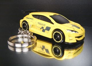 Yellow Renault Megane Trophy Keychain Key Ring Fob