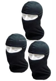 Lot of 3 Black Cotton Balaclava Ninja Mask Full Face Liner Helmet
