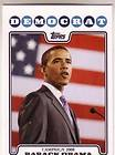 TOPPS CAMPAIGN 2008 #CO8 BO BARACK OBAMA PRESIDENTIAL CANDIDATE CARD