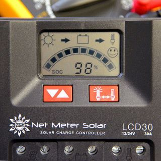 Solar Charge Controller 12V Digital Screen PWM Day Night Light Charger