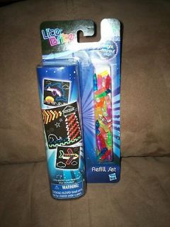 NIP Lite Brite Picture Refill Set 8 Assorted Patterns Plus Pegs Whale