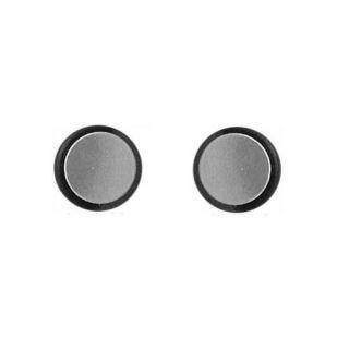 Tunnel Plug Silver Tone Men Unisex Steel Earrings Magnetic No Piercing