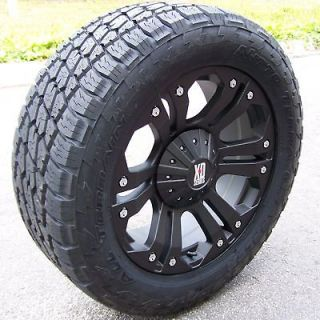 20 MONSTER WHEELS & NITTO TERRA GRAPPLER TIRES 6X5.5 6X135 FORD F150