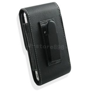 New Leather Case Belt Clip + LCD Film for NOKIA E72 p
