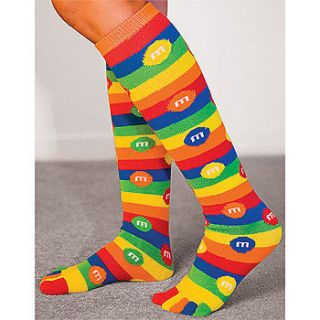 NEW M&Ms Candy Fun To Wear Brightly Colored Knee High Toe Socks