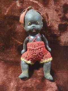 ANTIQUE google eye AFRICAN AMERICAN bisque BABY DOLL adrorable JOINTED