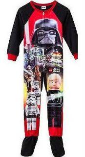 NWT NEW BOYS Lego Star Wars The Empire Fleece winter Pajamas 4 6 8