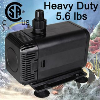 Submersible Water Pump Powerhead Pond Aquarium Fountain Reef Coral CSA