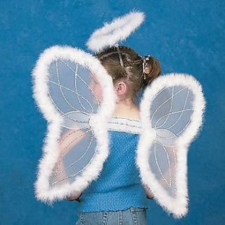 19 White Feather Angel Wings & Halo Christmas Halloween Costume