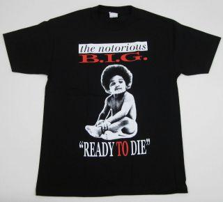 NOTORIOUS B.I.G T shirt Biggie Smalls Ready To Die Tee Adult S,M,L,XL