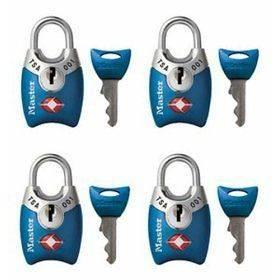 New Master Lock TSA Accepted Padlocks with Keys