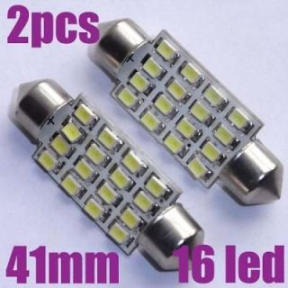 41mm 16 SMD LED Festoon Dome Car Light Bulb Backup Light Corner Light