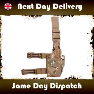 MULTICAM MTP HOLSTER ADJUSTABLE GUN PISTOL DROP LEG AIRSOFT ARMY
