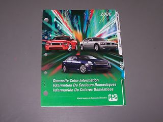 Exterior Domestic Paint Chip Color Codes Chart Ford Chevy GM Chrysler