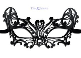 NIGHTWING Black Metal Lace VENETIAN Mask for Men or Women * Made in