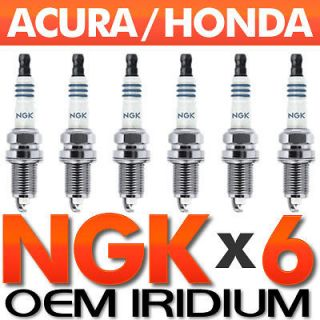 PC NGK Laser Iridium Spark Plug Set OEM for Acura/Honda V6 Accord