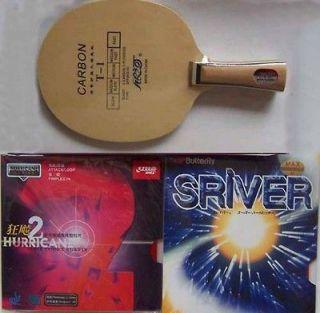 Sriver + Hurricane2 Carbon Custom Made Table Tennis Bat/Paddle OFF+