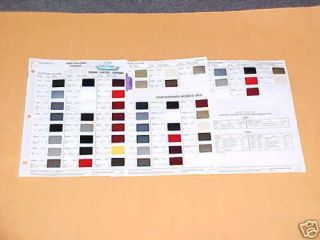 1989 HONDA CRX Si ACCORD LX DX PAINT CHIPS COLOR CHART