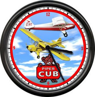 Cherokee Piper Cub Aircraft Pilot Airplane Personal Aircraft Sign Wall