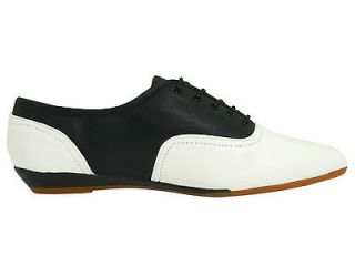 SOPHIE BLACK/WHITE OXFORD SHOES WOMENS 10.5 SADDLE SHOES FREE SHIP