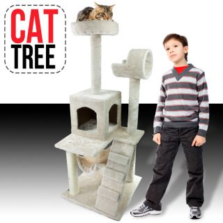 Deluxe 52 Cat Tower Tree Condo Scratcher Furniture Kitten House