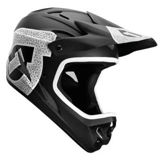 661 sixsixone Comp Shifted Full Face Bike Helmet White Black Medium