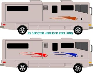 UNIVERSAL RV GRAPHIC STRIPE DECAL KIT 2