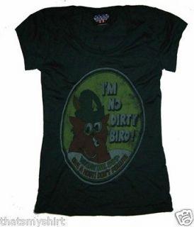 New Junk Food Woodsy The Owl Im No Dirty Bird Juniors T Shirt Size