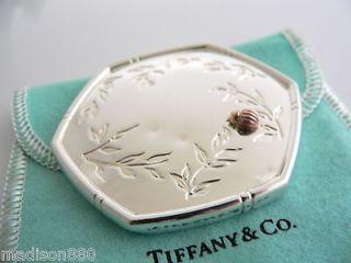 Tiffany & Co Silver 18K Gold Lady Bug Beetle Purse Mirror Rare Vintage