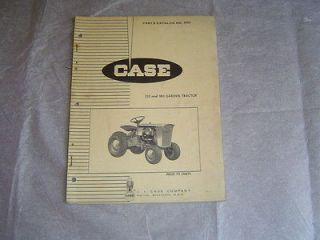 Case 130 180 lawn garden tractor parts catalog book manual