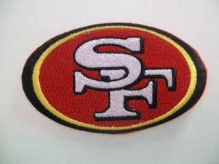 SAN FRANCISCO 49ERS LOGO PATCH   NFL   APPROX. 3 1/2 X 2
