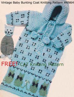 Cat Bag Knitting Pattern : KNITTING PATTERN PATTERNS BABY SLEEPING BAG REBORN #151