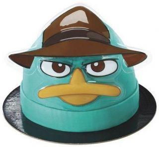 Phineas & Ferb Agent P Face Decoset ~ Cake Topper Decorating Set