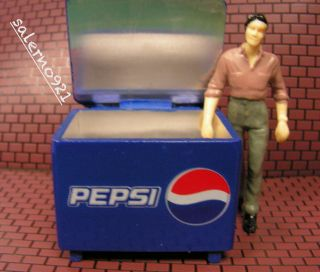 Pepsi Cooler Ice Chest + FREE Bottles and..1:24 G Scale Diorama