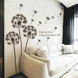 Flowers Vine REMOVABLE Wall Stickers Decals Wallpaper Home Vinyl Decor